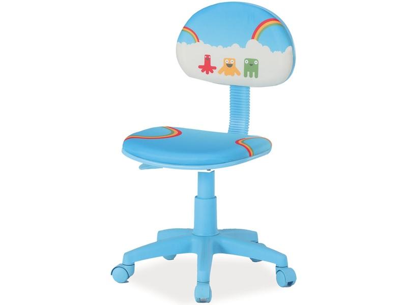 Signal Detská stolička HOP Prevedenie: TYP 2 modrá látka / vzor dúha