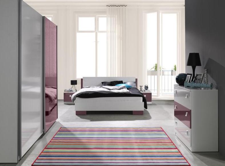 ArtMadex Spálňa Lux Farba: Biela / fialová lesk