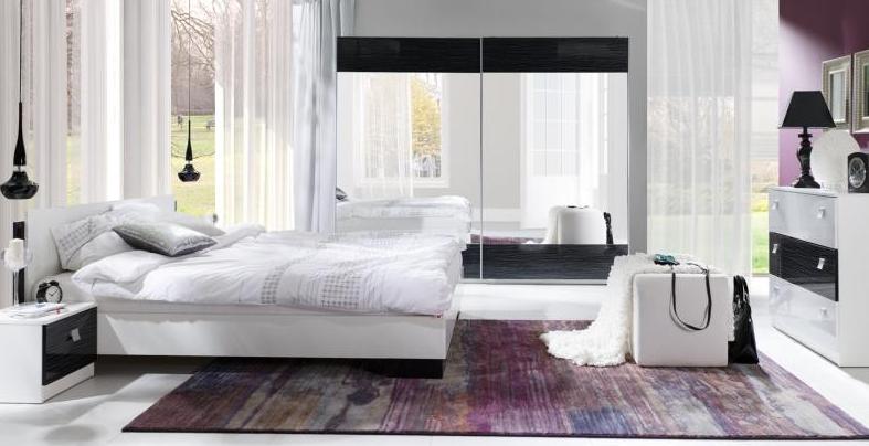 ArtMadex Spálňa Lux stripes Farba: Biela / čierny stripes