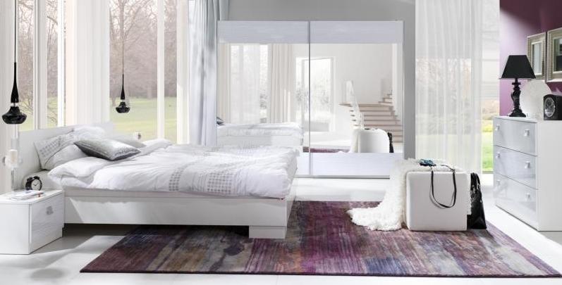ArtMadex Spálňa Lux stripes Farba: Biela / biely stripes