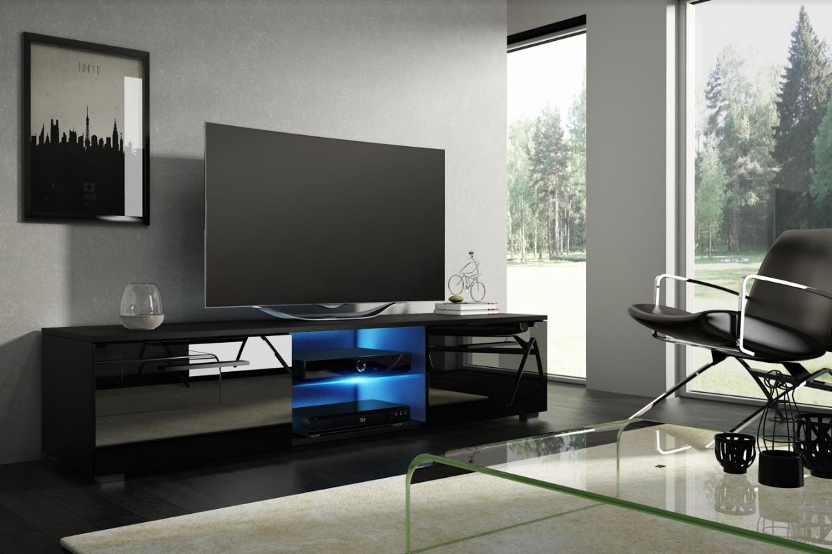 WIP Tv stolík Moon 140 Farba: čierna / čierny lesk