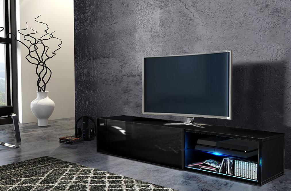 WIP Tv stolík Best Farba: čierna / čierny lesk