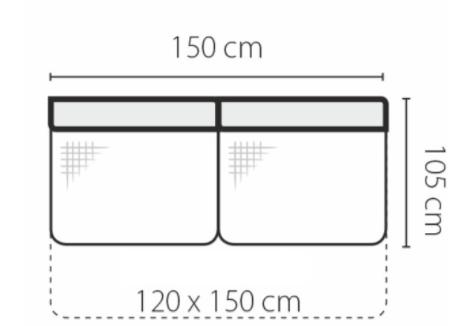 Stagra Rohová sedacia súprava Genova na vyskladanie Rohová sedacia súprava Genova: 3F-rozklad