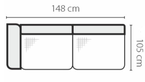 Stagra Rohová sedacia súprava Genova na vyskladanie Rohová sedacia súprava Genova: 2BL
