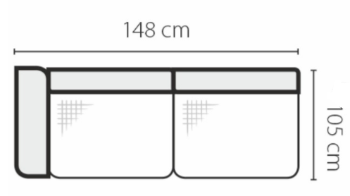 Stagra Rohová sedacia súprava Genova na vyskladanie Rohová sedacia súprava Genova: 2SBL
