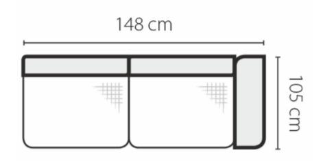 Stagra Rohová sedacia súprava Genova na vyskladanie Rohová sedacia súprava Genova: 2BP