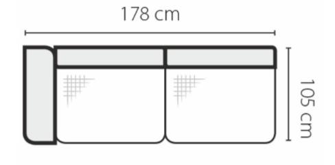 Stagra Rohová sedacia súprava Genova na vyskladanie Rohová sedacia súprava Genova: 3BL