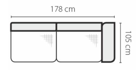 Stagra Rohová sedacia súprava Genova na vyskladanie Rohová sedacia súprava Genova: 3BP