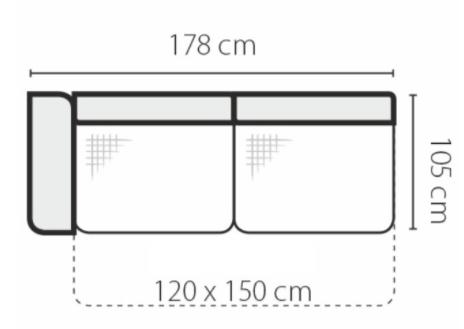 Stagra Rohová sedacia súprava Genova na vyskladanie Rohová sedacia súprava Genova: 3FBL-rozklad