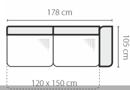 Stagra Rohová sedacia súprava Genova na vyskladanie Rohová sedacia súprava Genova: 3FBP-rozklad
