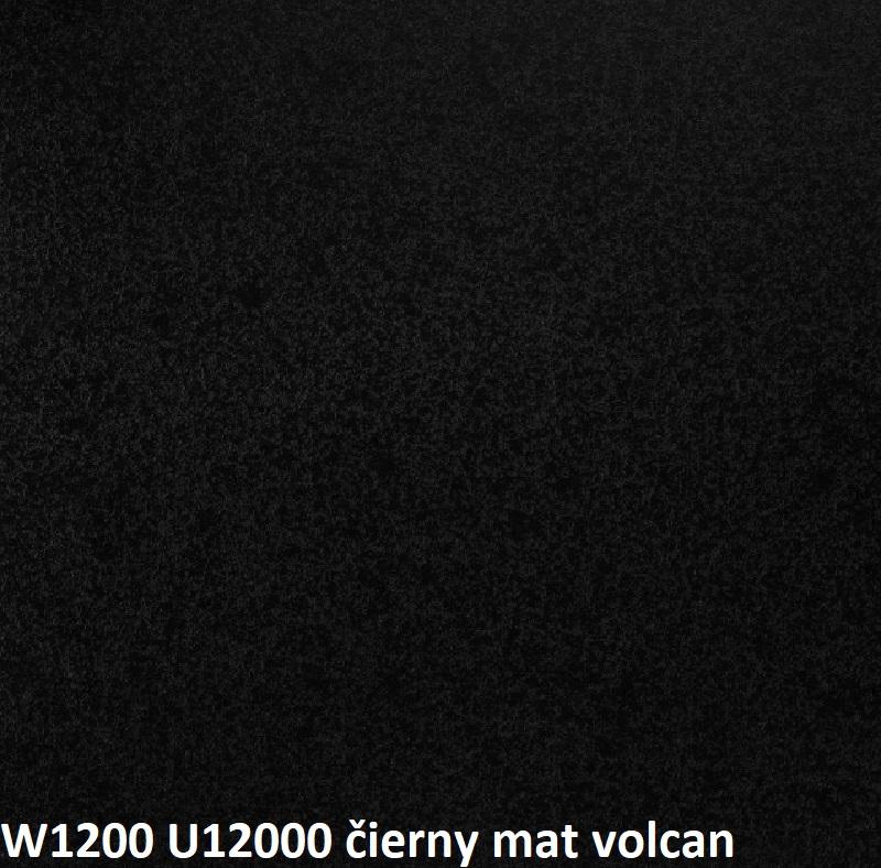 ArtExt Pracovná doska - 38 mm 38 mm: Čierny Mat Volcan W 1200 - U12000