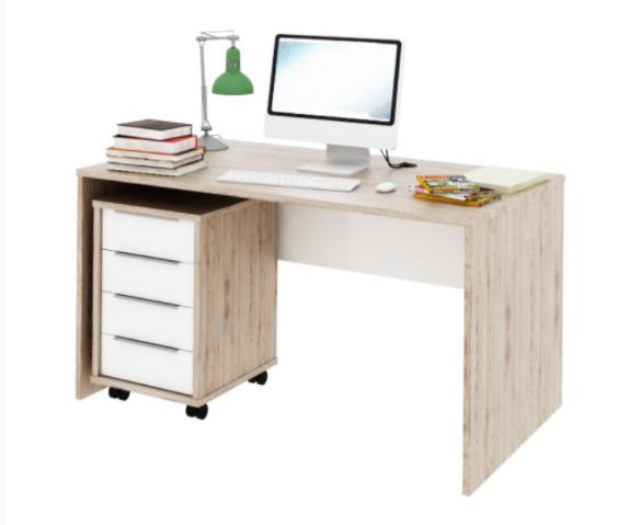 Tempo Kondela Písací stolík Rioma typ 11 Farba: San Remo / biela