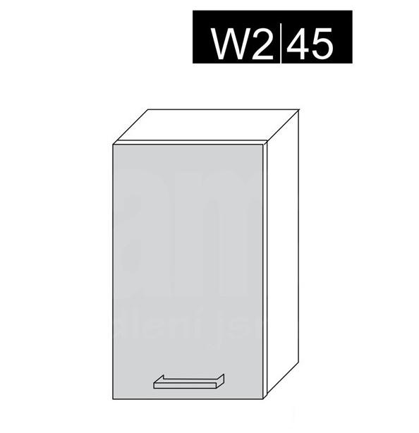 ArtExt Kuchynská linka Emporium Kuchyňa: Horná skrinka W2/45 / (ŠxVxH) 45 x 72 x 30-32,5 cm