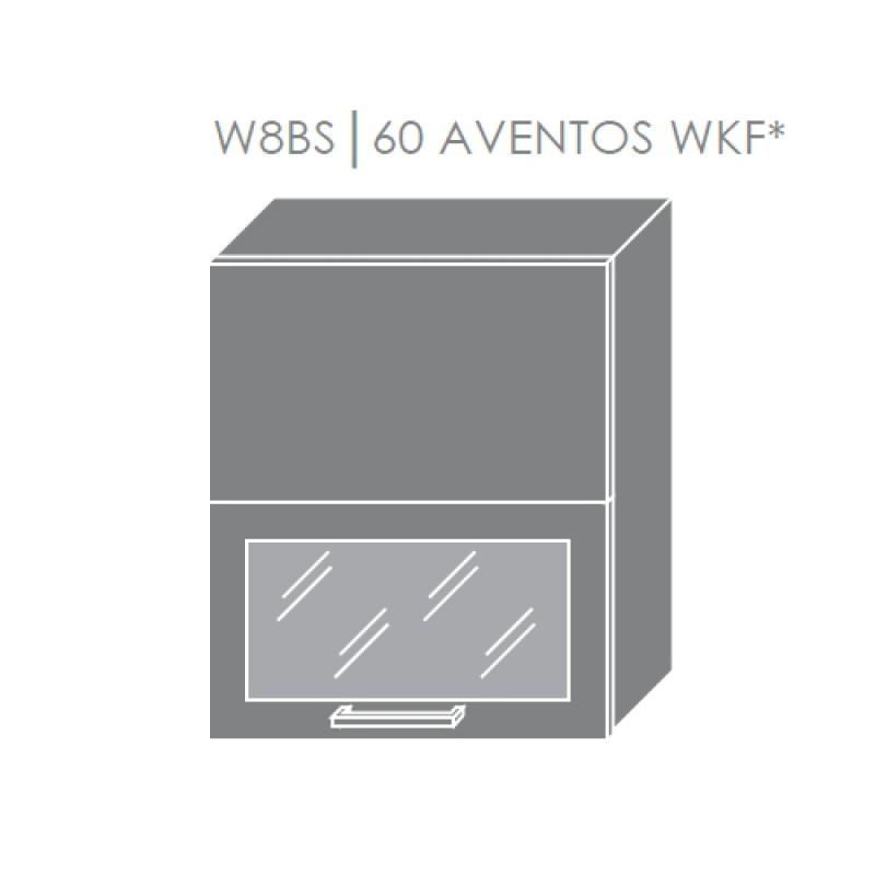 ArtExt Kuchynská linka Emporium Kuchyňa: Horná skrinka W8BS/60 AVENTOS WKF/ rám vo farbe dvierok / korpus grey, lava, biela (ŠxVxH) 60 x 72 x 30 cm