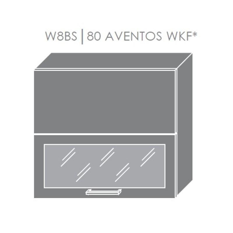 ArtExt Kuchynská linka Emporium Kuchyňa: Horná skrinka W8BS/80 AVENTOS WKF/ rám vo farbe dvierok / korpus grey, lava, biela (ŠxVxH) 80 x 72 x 30 cm