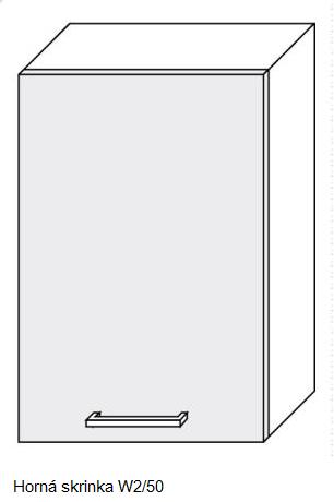 ArtExt Kuchynská linka Emporium Kuchyňa: Horná skrinka W2/50 / (ŠxVxH) 50 x 72 x 30-32,5 cm