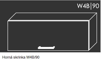 ArtExt Kuchynská linka Emporium Kuchyňa: Horná skrinka W4B/90 / (ŠxVxH) 90 x 36 x 30-32,5 cm