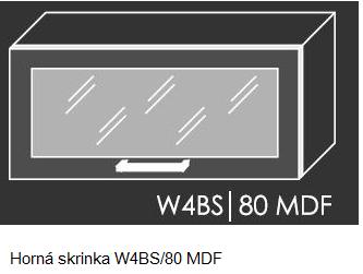 ArtExt Kuchynská linka Emporium Kuchyňa: Horná skrinka W4BS/80 MDF / (ŠxVxH) 80 x 36 x 30 cm