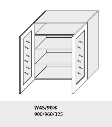 ArtExt Kuchynská linka Emporium Kuchyňa: Horná skrinka W3S/90 / (ŠxVxH) 90 x 72 x 30-32,5 cm