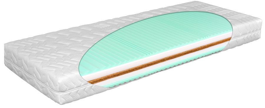 Matratex Matrac Grand Plus T3 (odnímateľný poťah) Rozmer: 160 x 200 cm, Tvrdosť: tvrdosť T3