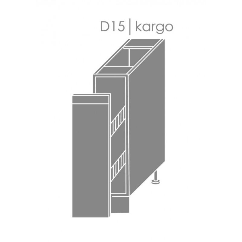 ArtExt Kuchynská linka Florence - lesk Kuchyňa: Spodná skrinka D/15 / (ŠxVxH) 15 x 82 x 50 cm
