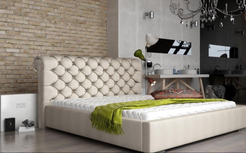 ArtMarz Manželská posteľ Manchester Prevedenie: 160 x 200 cm