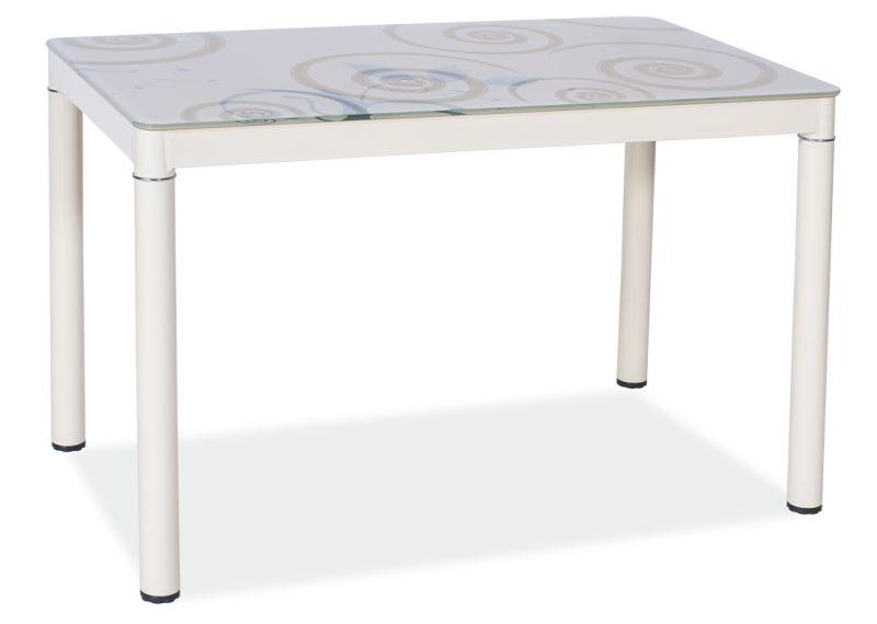 Signal Jedálenský stôl Damar 80x60 Farba: Krémová
