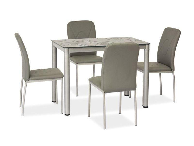 Signal Jedálenský stôl Damar 80x60 Farba: Sivá