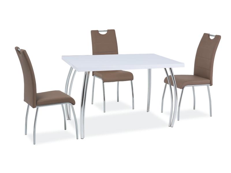 Signal Jedálenský stôl SK-2   102x64 Farba: biely lesk