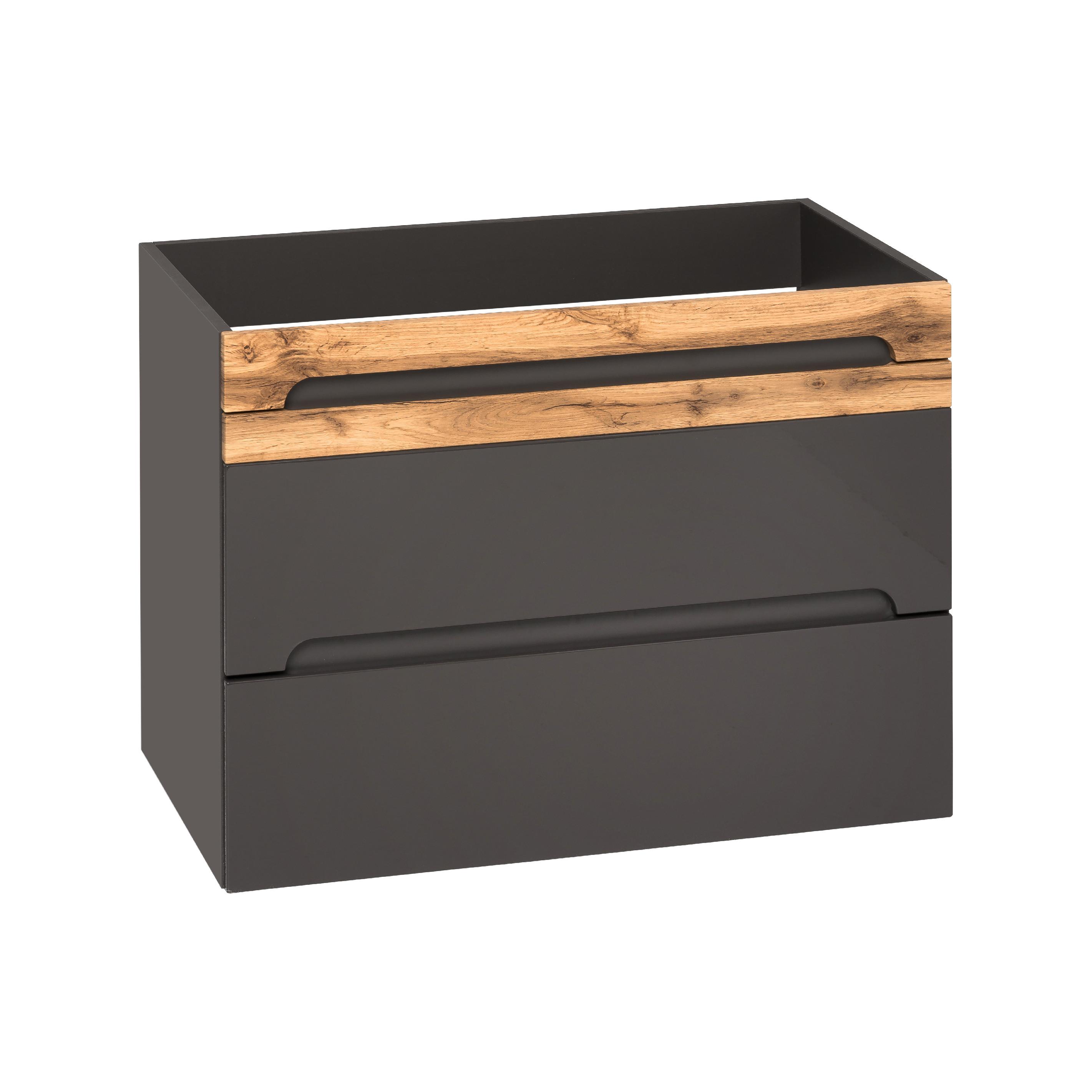 ArtCom Kúpelňová zostava Galaxy sivá Galaxy: skrinka nízka 810 - (67 x 35 x 33 cm)