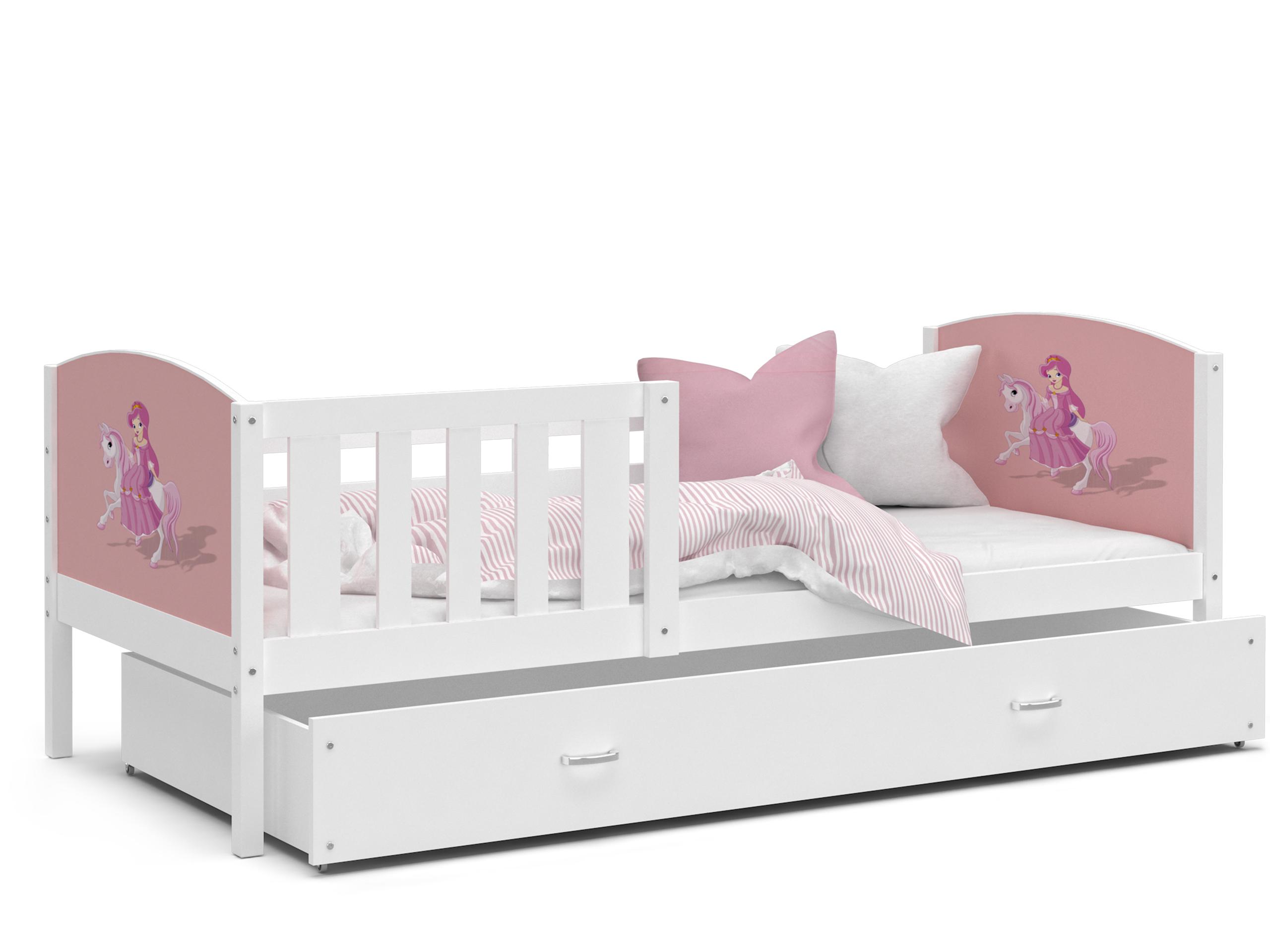 ArtAJ Detská posteľ Tami P / biela Tami rozmer: 160 x 80 cm, s matracom