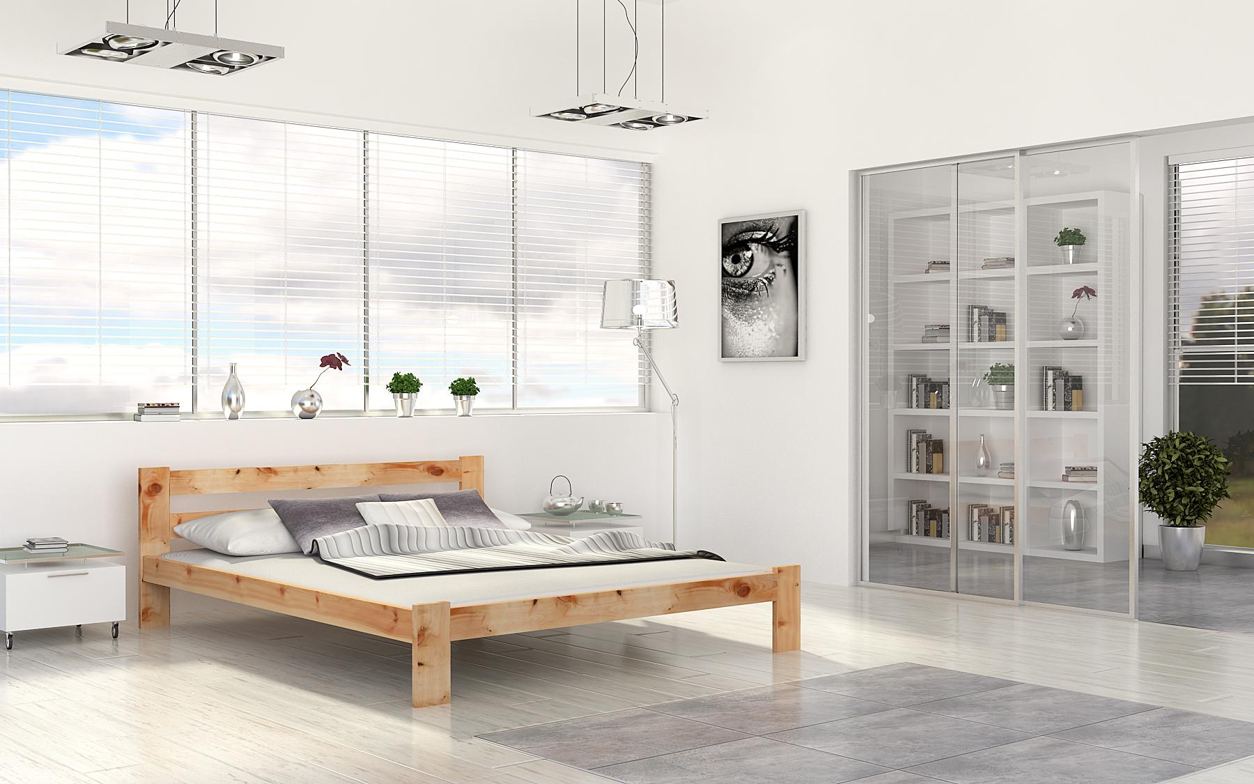 ArtAJ Manželská posteľ Venecia 200x180 Farba: Borovica