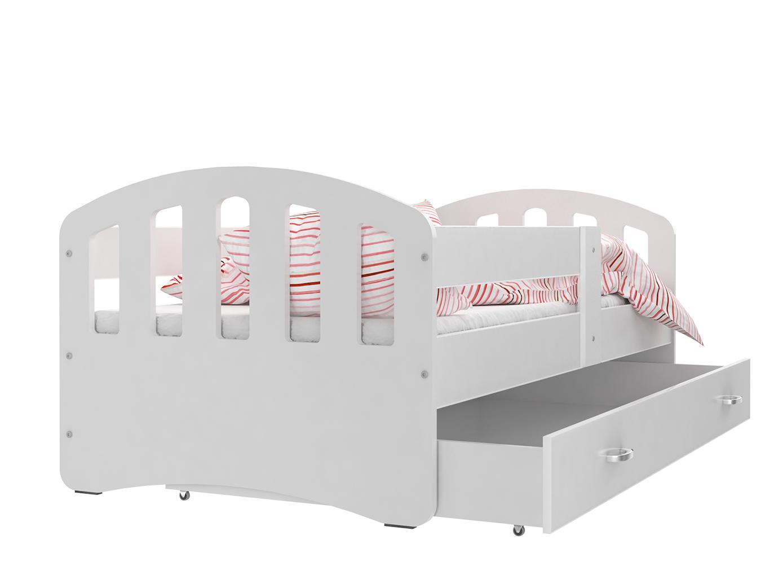 ArtAJ Detská posteľ Happy 200x80 HAPPY: biela / biela s matracom