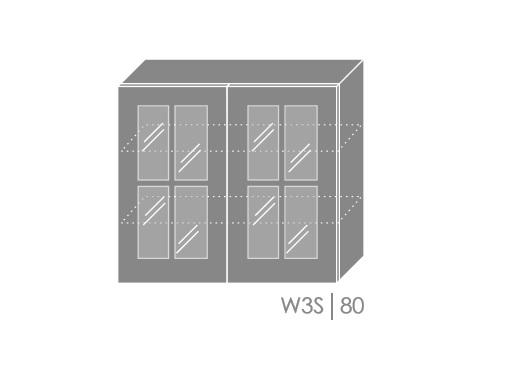 ArtExt Kuchynská linka Pescara Kuchyňa: Horná skrinka W3S/80 / (ŠxVxH) 80 x 72 x 32,5 cm