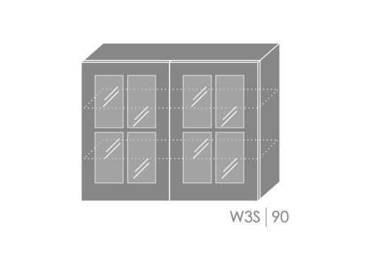 ArtExt Kuchynská linka Pescara Kuchyňa: Horná skrinka W3S/90 / (ŠxVxH) 90 x 72 x 32,5 cm
