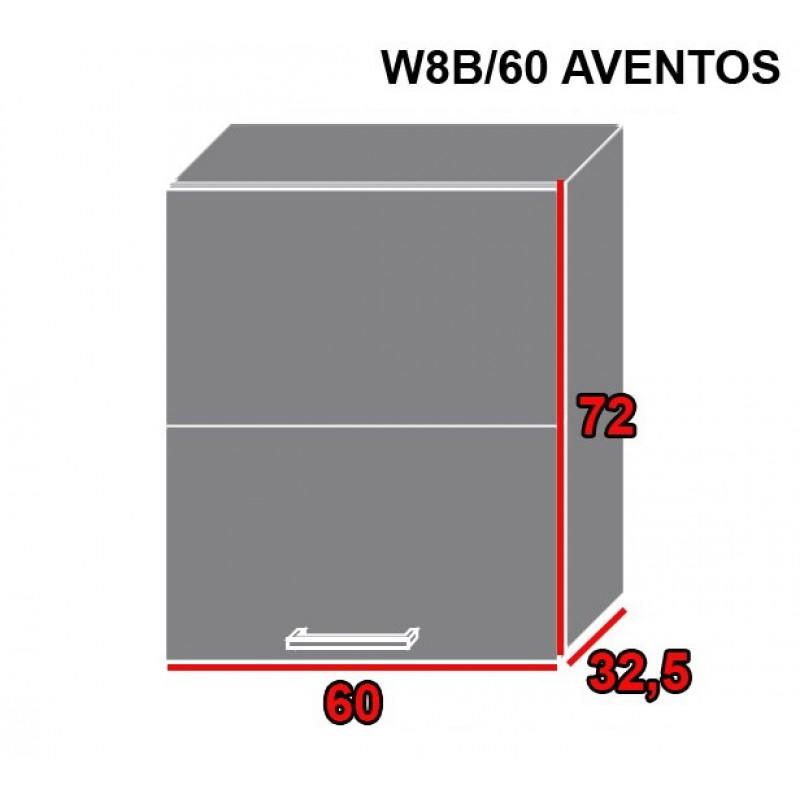 ArtExt Kuchynská linka Pescara Kuchyňa: Horná skrinka W8B/60 AVENTOS /korpus grey,lava,biela (ŠxVxH) 60 x 72 x 32,5 cm