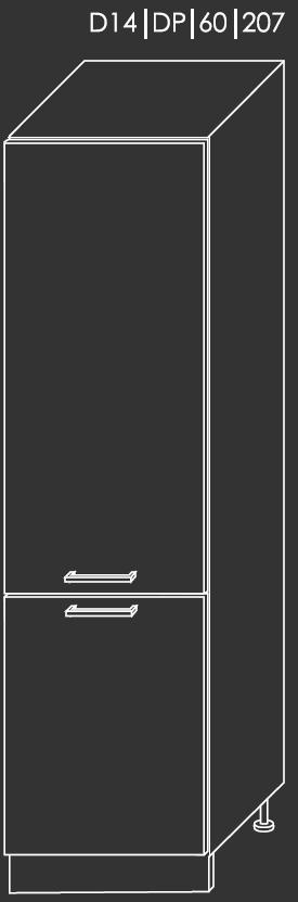 ArtExt Kuchynská linka Pescara Kuchyňa: Spodná skrinka D14/DP/60/207 / (ŠxVxH) 60 x 207 x 56,5 cm