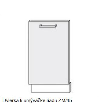 ArtExt Kuchynská linka Pescara Kuchyňa: Dvierka k umývačke riadu ZM/45 / 45cm
