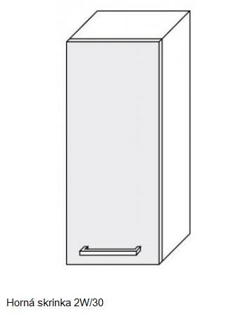 ArtExt Kuchynská linka Pescara Kuchyňa: Horná skrinka W2/30 / (ŠxVxH) 30 x 72 x 32,5 cm
