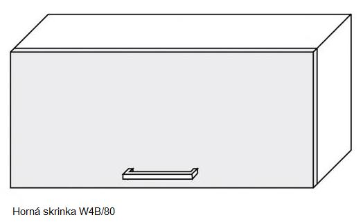 ArtExt Kuchynská linka Pescara Kuchyňa: Horná skrinka W4B/80 / (ŠxVxH) 80 x 36 x 32,5 cm