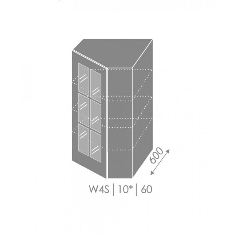ArtExt Kuchynská linka Pescara Kuchyňa: Horná rohová skrinka W4S/10/60 / (ŠxVxH) 60 x 96 x 60 cm