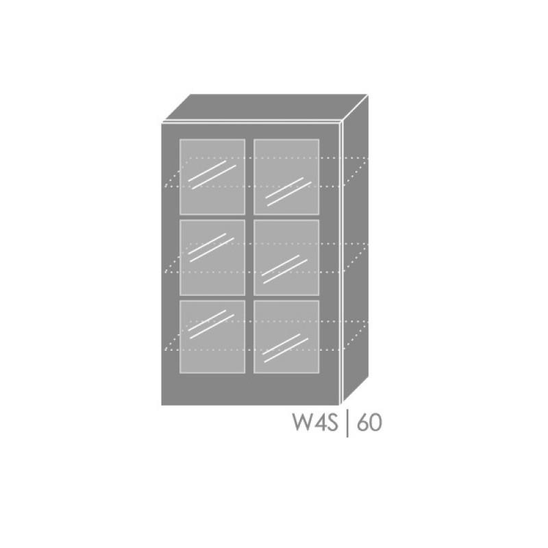 ArtExt Kuchynská linka Pescara Kuchyňa: Horná skrinka W4S/60 / (ŠxVxH) 60 x 96 x 32,5 cm