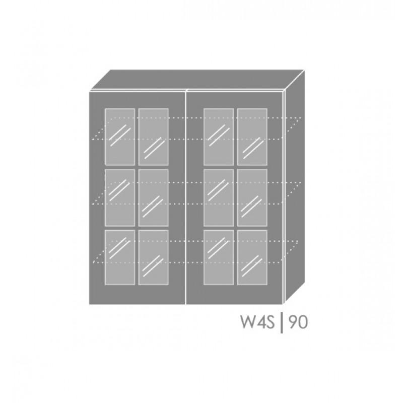 ArtExt Kuchynská linka Pescara Kuchyňa: Horná skrinka W4S/90 / (ŠxVxH) 90 x 96 x 32,5 cm
