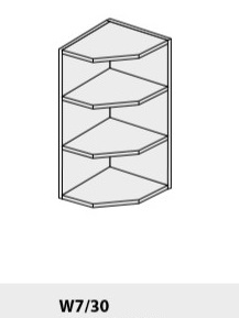 ArtExt Kuchynská linka Pescara Kuchyňa: Horná skrinka W7/30 / (ŠxVxH) 30 x 72 x 32,5 cm