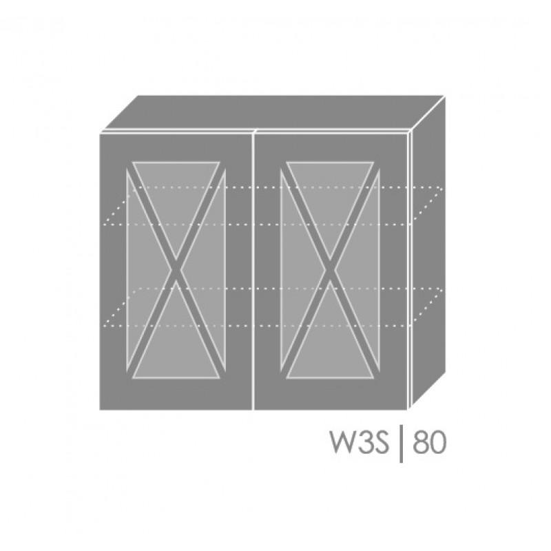 ArtExt Kuchynská linka Tivoli Kuchyňa: Horná skrinka W3S/80 / (ŠxVxH) 80 x 72 x 32,5 cm