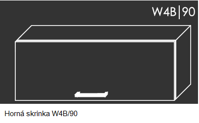 ArtExt Kuchynská linka Tivoli Kuchyňa: Horná skrinka W4B/90 / (ŠxVxH) 90 x 36 x 32,5 cm