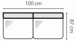 Stagra Rohová sedacia súprava Barello na vyskladanie Barello: 2