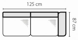 Stagra Rohová sedacia súprava Barello na vyskladanie Barello: 2BP