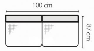 Stagra Rohová sedacia súprava Barello na vyskladanie Barello: 2S s úlož. priestorom