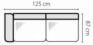 Stagra Rohová sedacia súprava Barello na vyskladanie Barello: 2SBL s úlož. priestorom